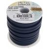 Flat Leather 5X2mm (10m Spool) Navy Blue